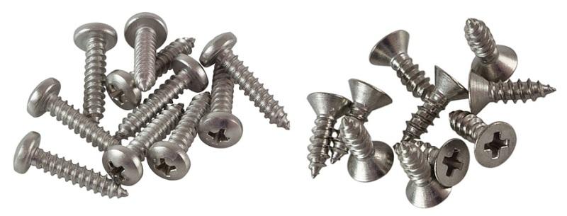 Типы саморезов по металлу